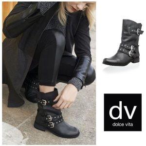 EDGY!  DV by Dolce Vita Solvae Moto boot in black